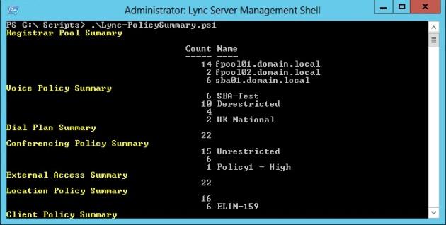 Lync-PolicySummary